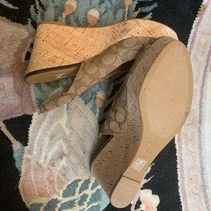 Coach ferry wedge heels shoes sz 9.5b brand new my